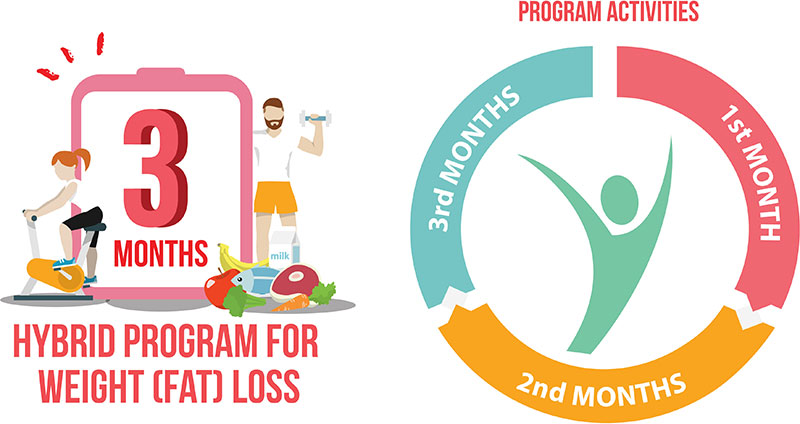 3 Months Hybrid Program for Weight (Fat) Loss